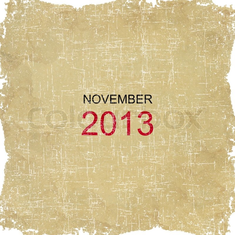 Stock image of '2013 Calendar Old Paper Design - November'