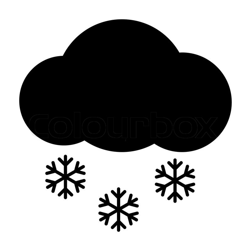 weather icon - cloud snow | stock vector | colourbox