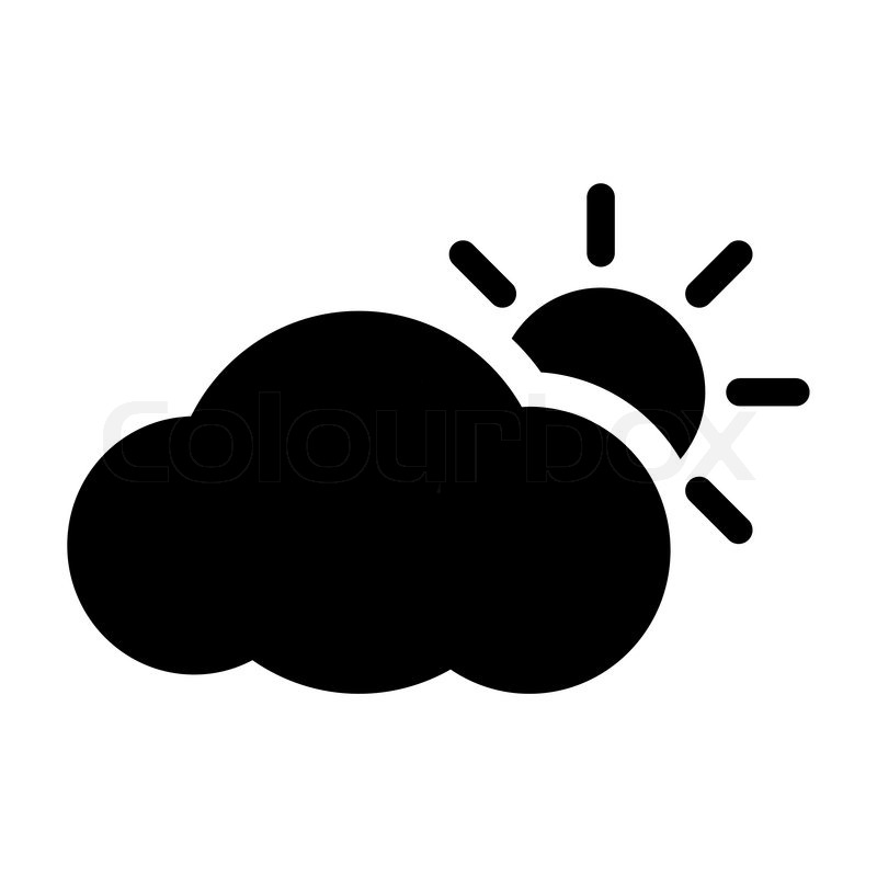 weather icon sun cloud stock vector colourbox rh colourbox com sun icon vector free download sun icon vector png