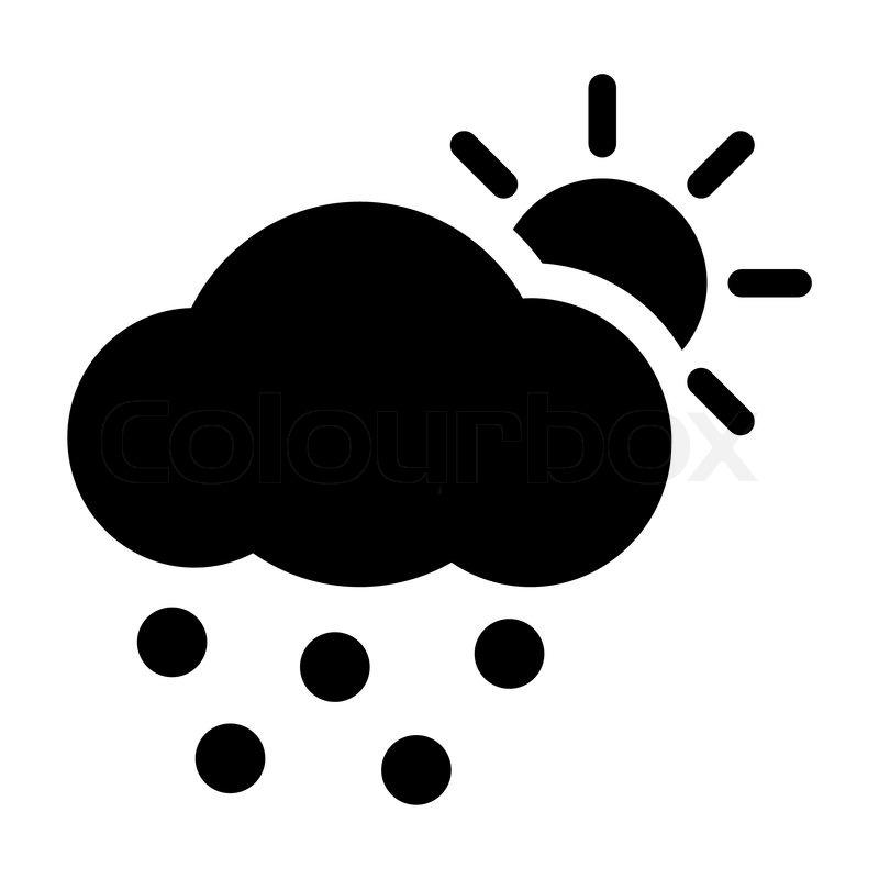 Stock vektor von wetter icon sonne wolke hagel