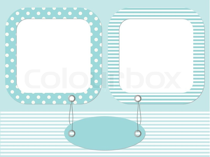 Blue Baby Photo Frames Stock Vector Colourbox