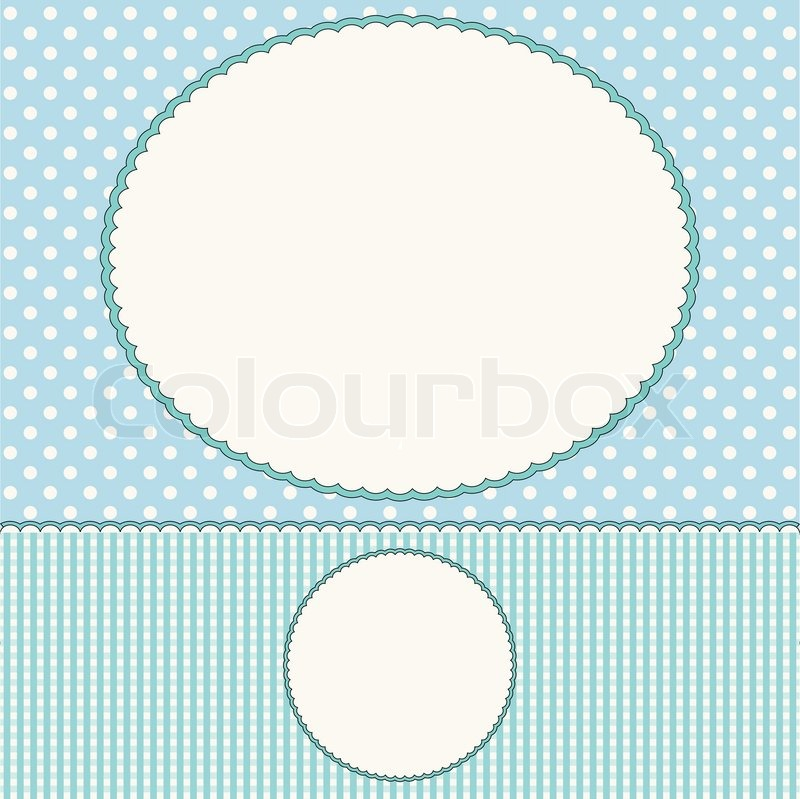 blue baby arrival card or photo frame