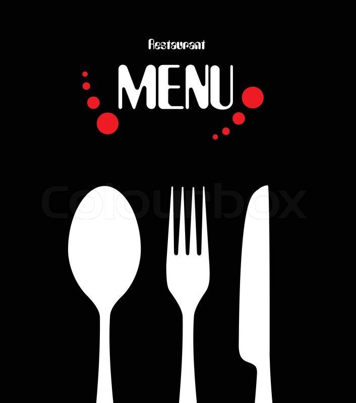 Vector Illustration Of Beauty Simple Restaurant Menu