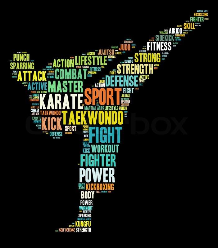 Martial Arts Info Text Graphics And Arrangement Word
