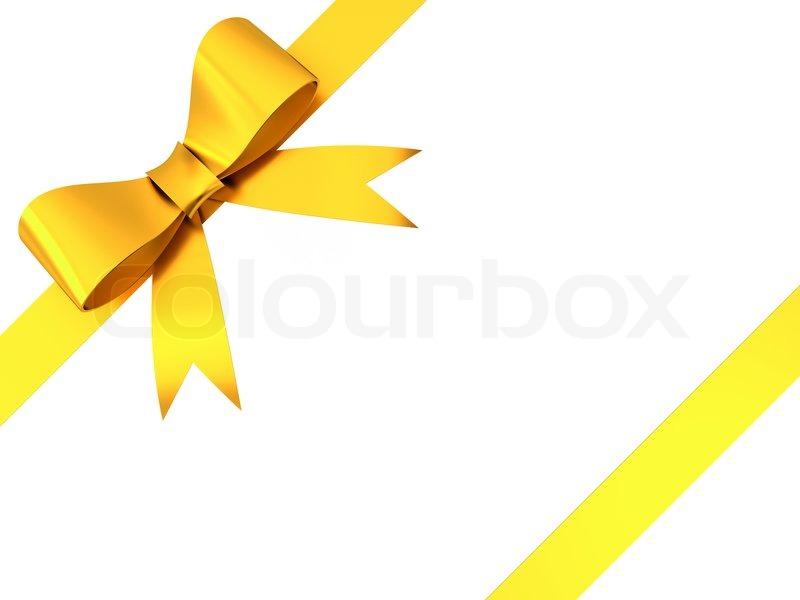 gold geschenk schleife bow isolierten auf wei en hintergrund stockfoto colourbox. Black Bedroom Furniture Sets. Home Design Ideas