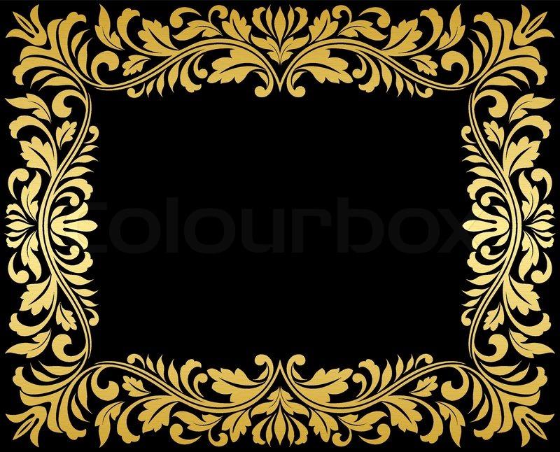 Berühmt Schwarz Und Gold Glasrahmen Bilder - Benutzerdefinierte ...