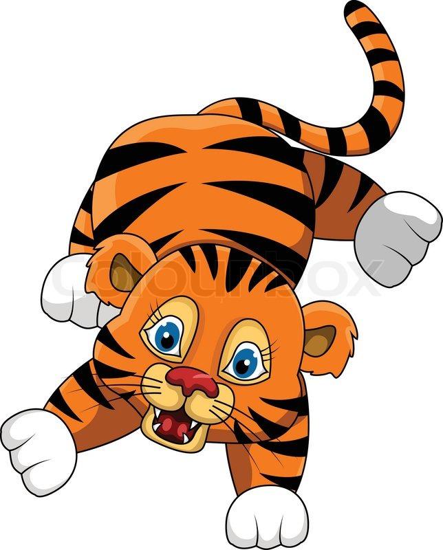 Cute young tiger carto...