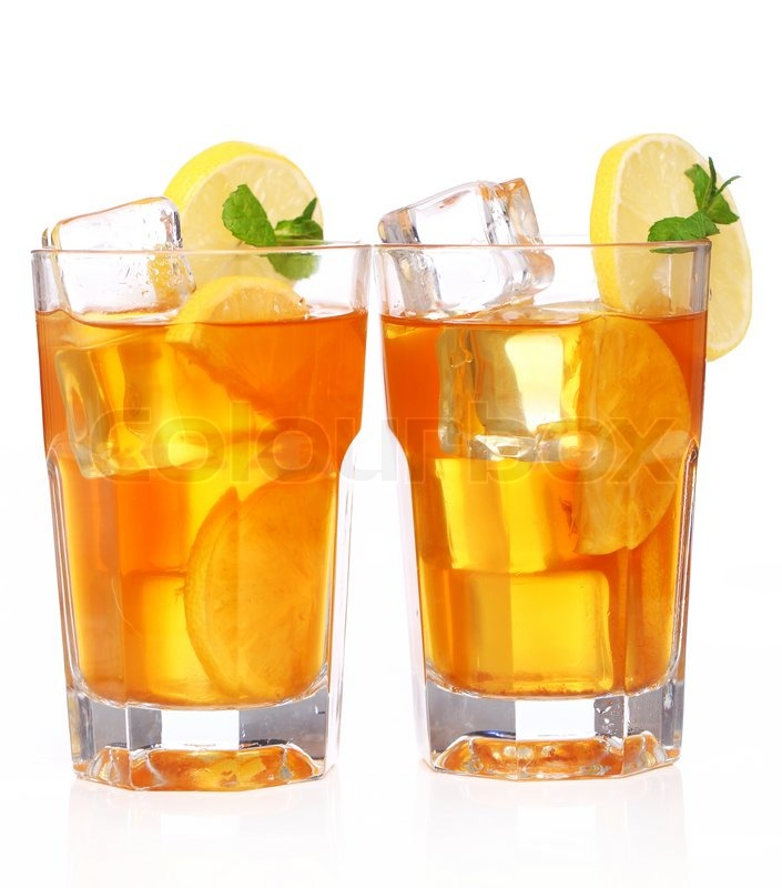 Fresh and cold ice tea with lemon and mint | Stock Photo | Colourbox