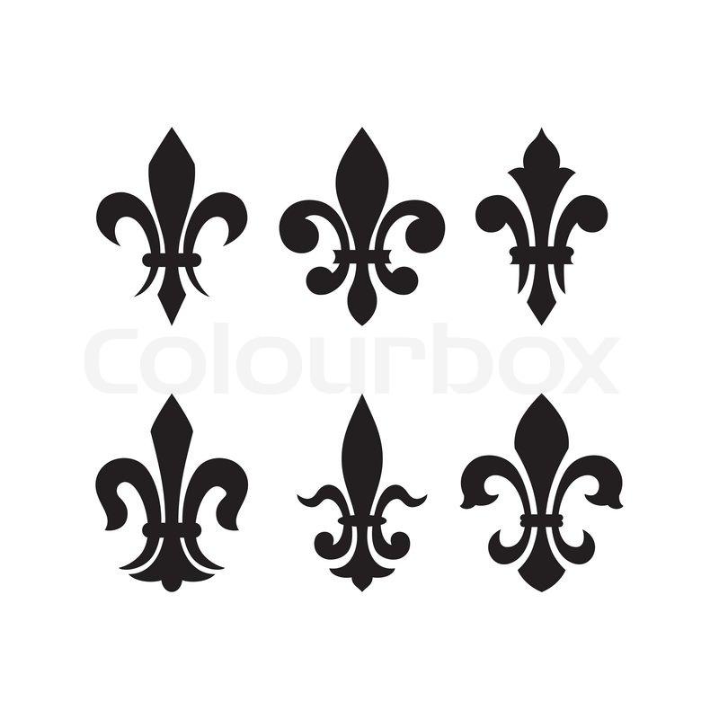 Heraldic Symbol Fleur De Lis Stock Vector Colourbox