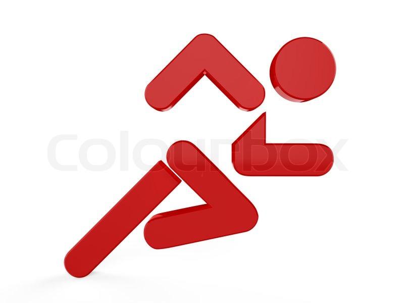 3d Sport Icon Set 3d Running Man Symbol Stock Photo Colourbox
