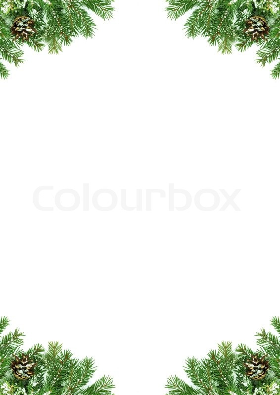 weihnachten rahmen mit schnee und kegeln stockfoto colourbox. Black Bedroom Furniture Sets. Home Design Ideas