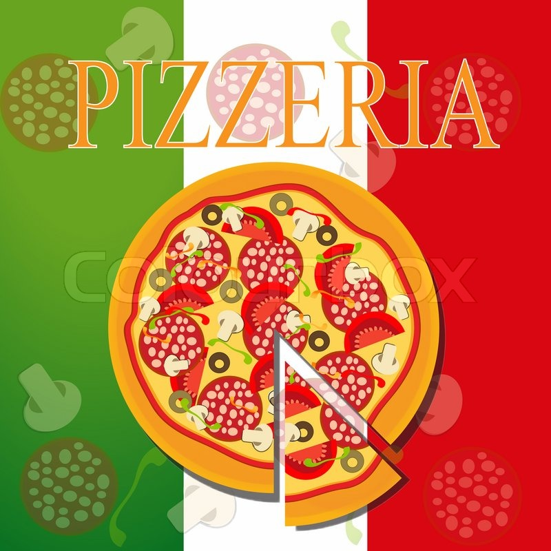Pizza -Menü-Schablone Raster -Version | Stockfoto | Colourbox