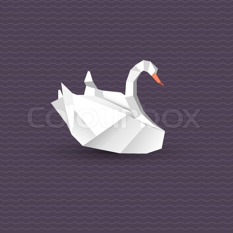 Vector Origami Swan Stock Vector Colourbox