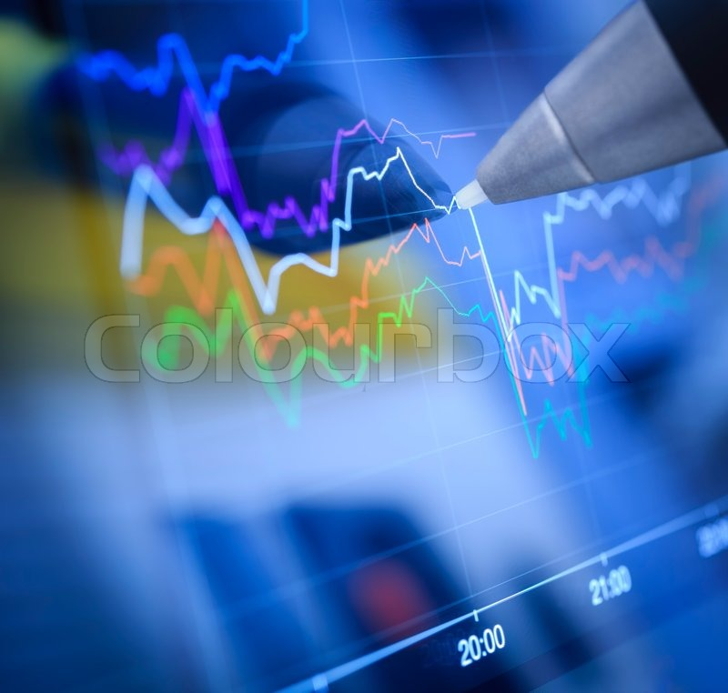 Business charts and markets, stock photo