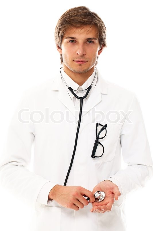 Young And Handsome Doctor Portrait Stock Photo Colourbox