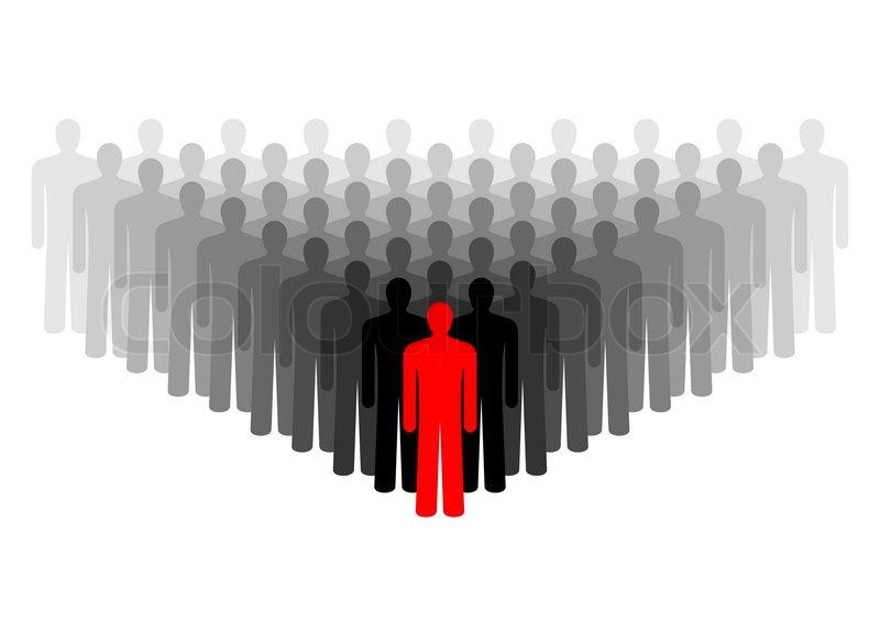 Leadership Symbol Of People Representing The Crowd In Vector