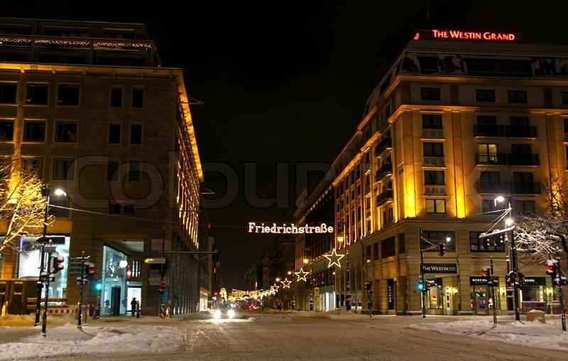Weihnachtsbeleuchtung Berlin.Weihnachtsbeleuchtung Der Stock Bild Colourbox