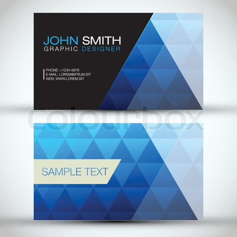 Blue modern abstract business card set eps10 vector design stock blue modern abstract business card set eps10 vector design vector reheart Gallery