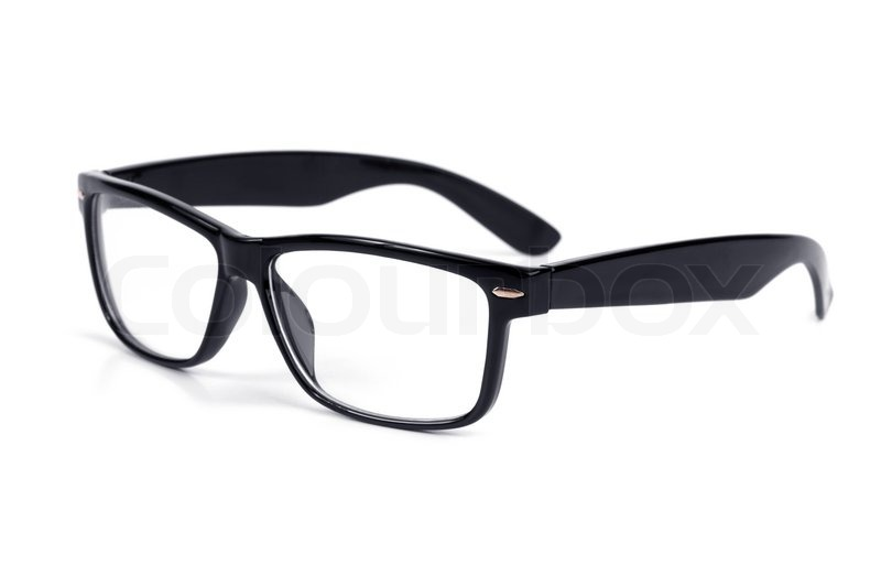 Stylish black-framed glasses | Stock Photo | Colourbox