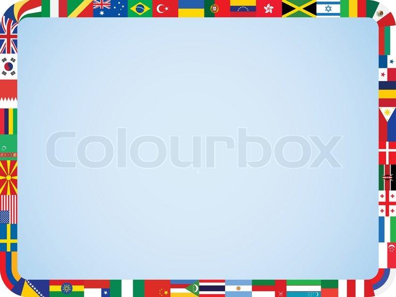 Flaggen der Welt Rahmen withrounded Ecken Vektor-Illustration ...