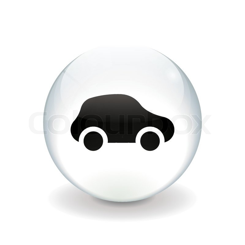round white button car icon stock vector colourbox. Black Bedroom Furniture Sets. Home Design Ideas