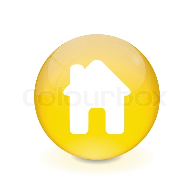 round yellow button house icon stock vector colourbox crystal ball clip art free black and white crystal ball clipart black and white