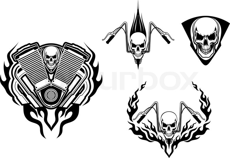 Death Monster For Racing Mascot Or Tattoo Stock Vector Colourbox