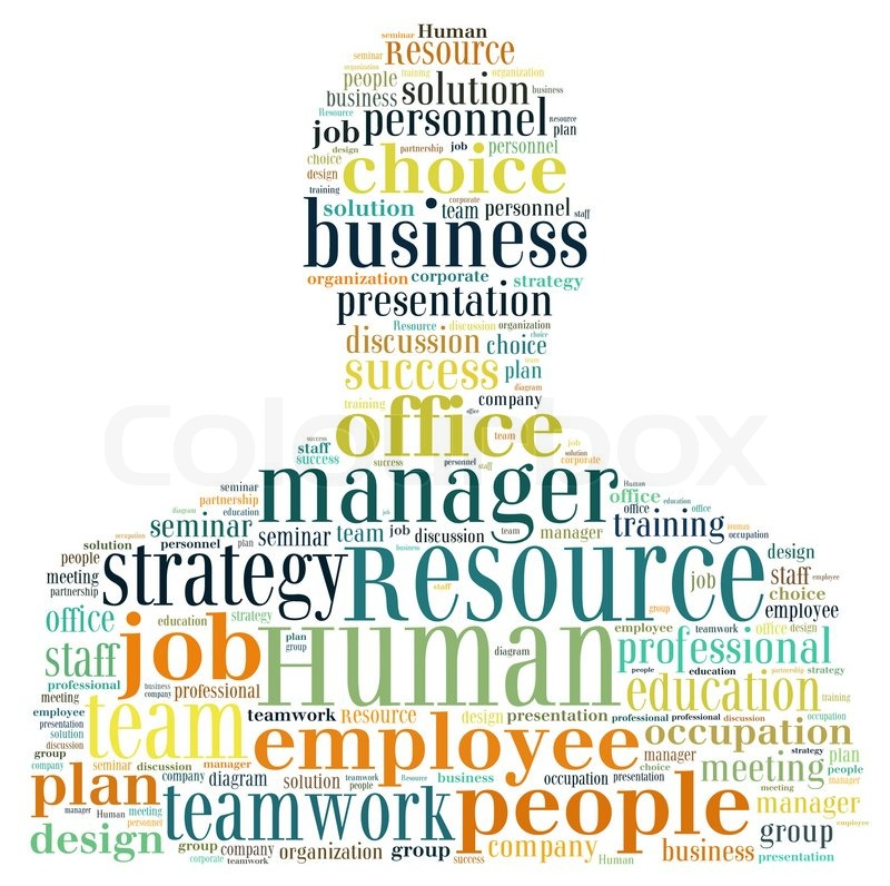 Human Resource Management In Word Collage Stock Photo