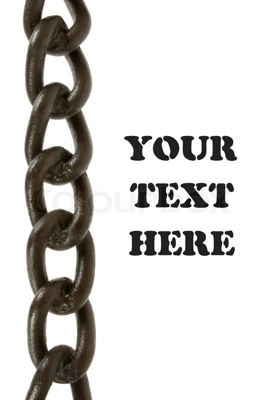 Fantastisk Sort kæde isoleret | Stock foto | Colourbox AG46