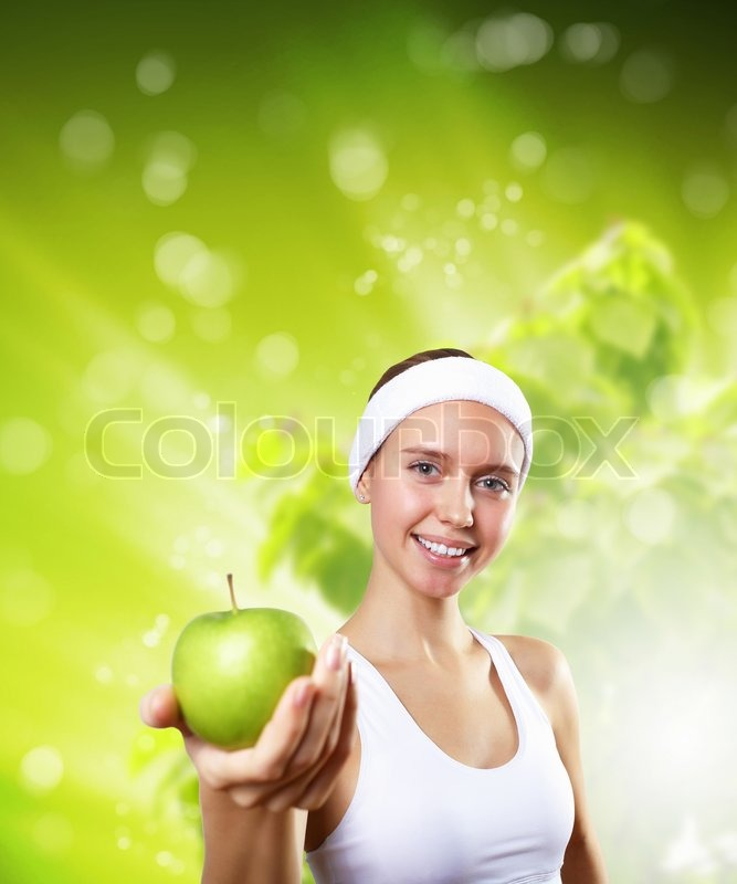 Sport and healthy food, stock photo