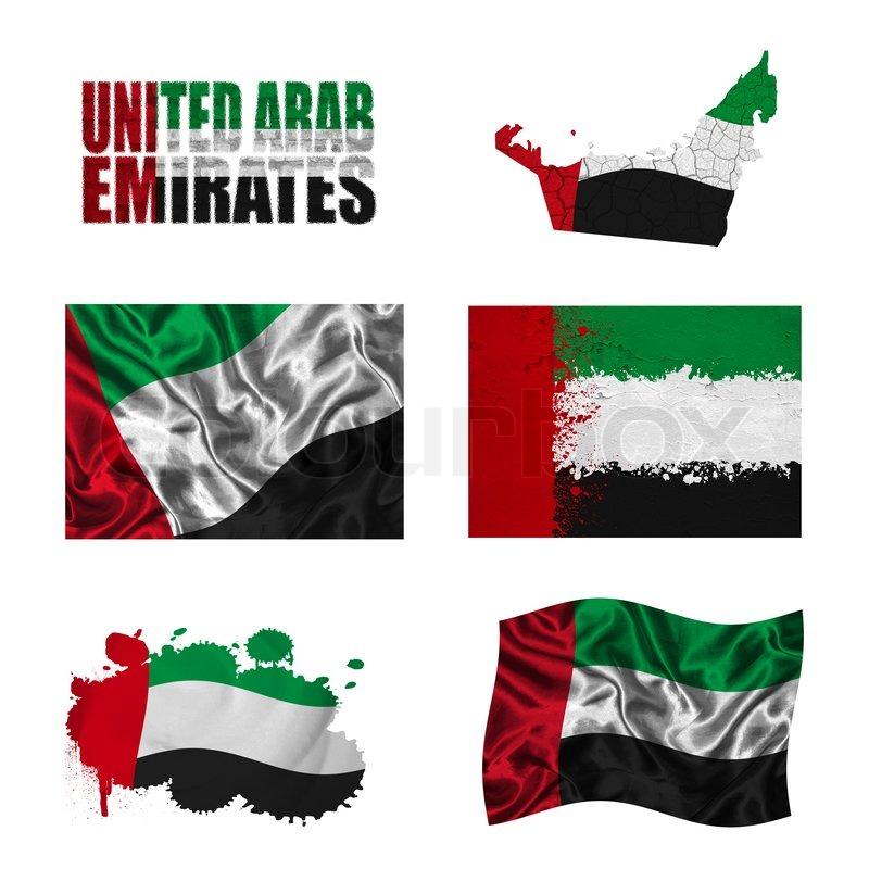 united arab emirates flag collage stock photo colourbox