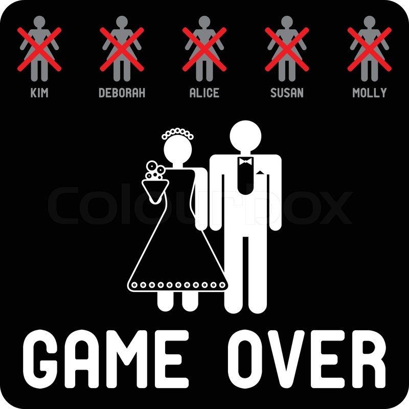 game over with ex invert stock vector colourbox