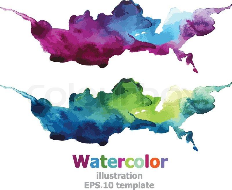 Abstract Watercolor Vector Stock Colourbox