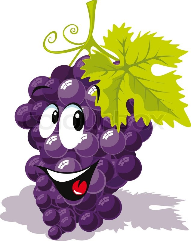 wine grape cartoon stock vector colourbox rh colourbox com cartoon graphic designers cartoon graphics card