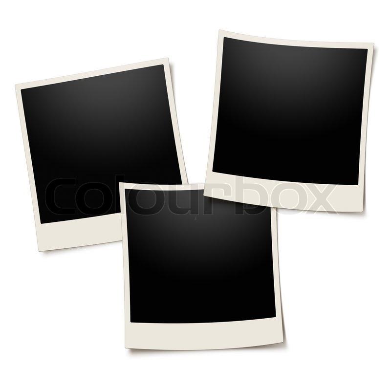 Polaroid Bilderrahmen auf weißem | Stockfoto | Colourbox