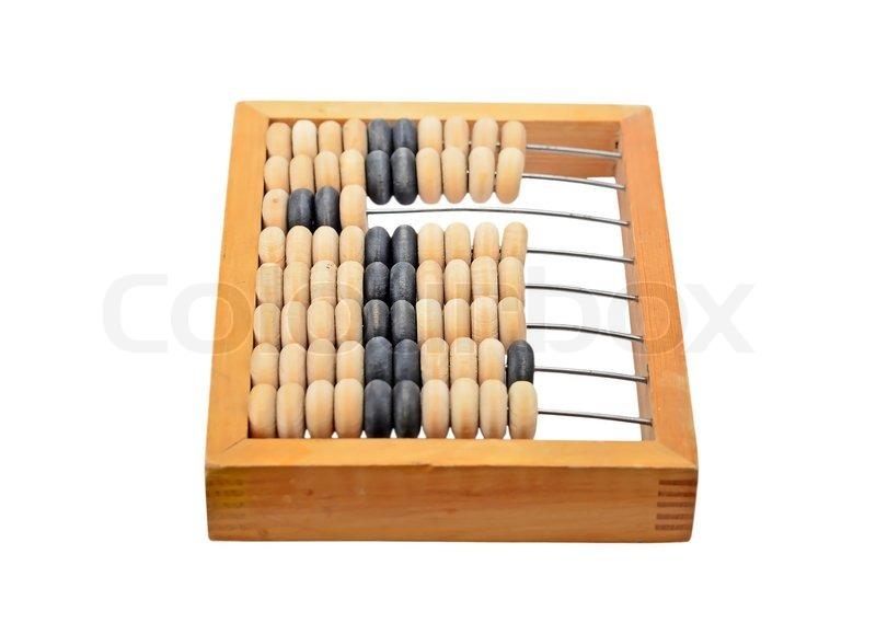 vintage wooden abacus isoliert auf stockfoto. Black Bedroom Furniture Sets. Home Design Ideas