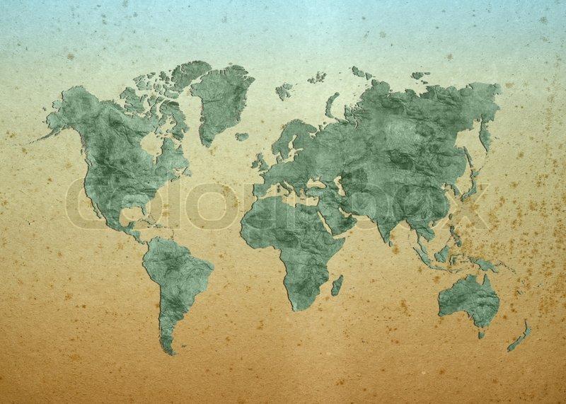 world map world background on grunge paper