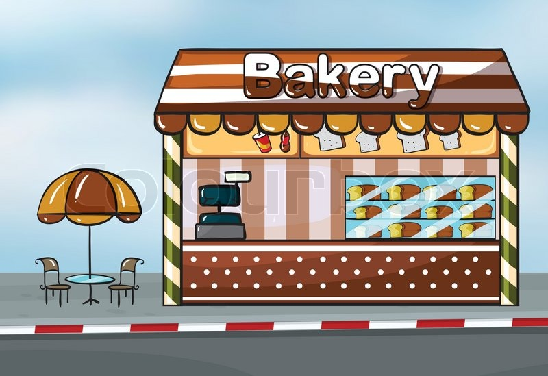 A Bakery Shop Stock Vector Colourbox
