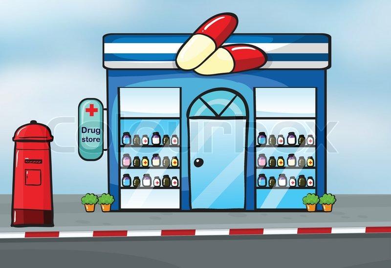 a drug store stock vector colourbox