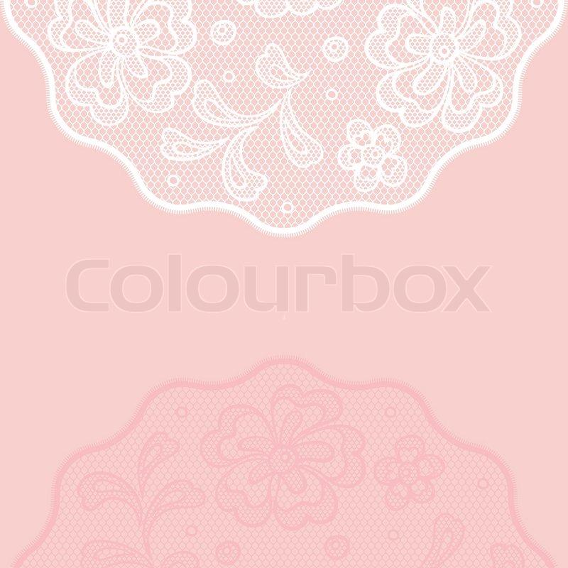 Vintage Lace Background Ornamental Flowers Invitation Card