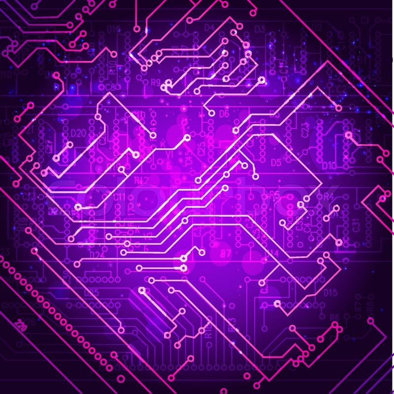 Abstract hi-tech electronic background. Circuit board pattern ...