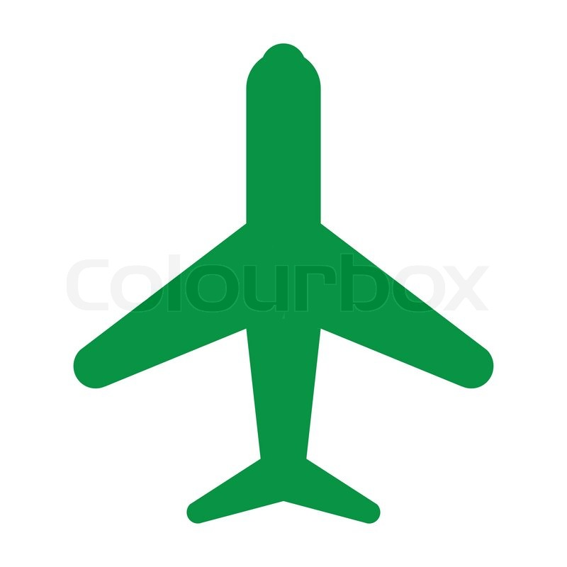 Green Car Icon Icon Plane Green