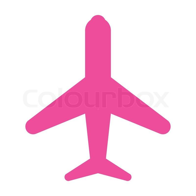 Icon Flugzeug Pink Stock Vektor Colourbox
