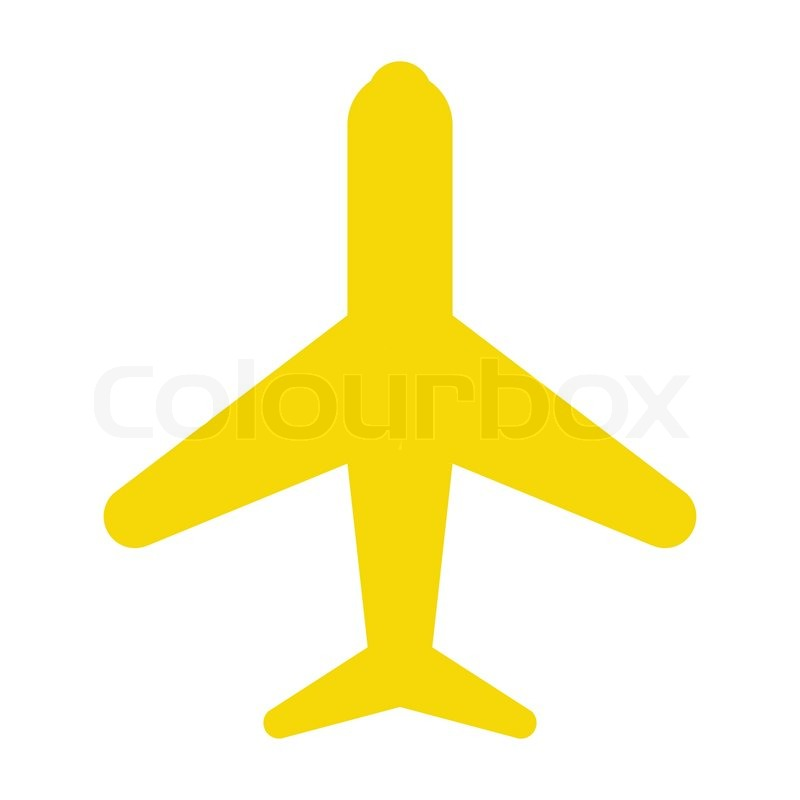 icon plane yellow stock vector colourbox