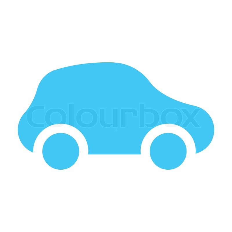 Icon Car Light Blue Vector Colourbox