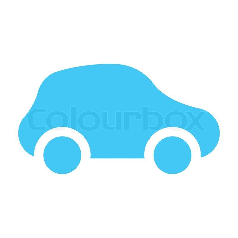 Icon Car Light Blue Stock Vector Colourbox