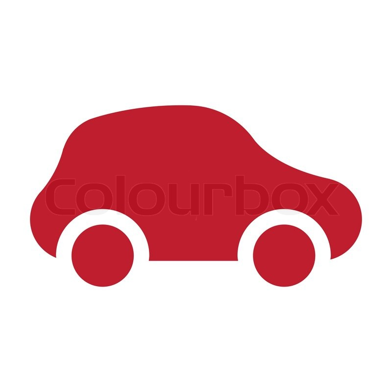 Icon Car Red Stock Vector Colourbox