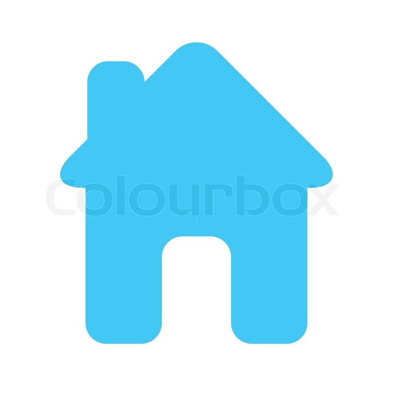 Icon House Light Blue Stock Vector Colourbox