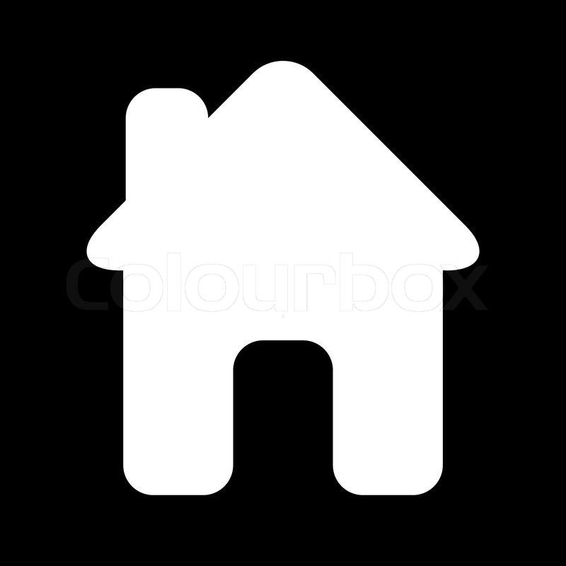 Icon House Black White Stock Vector Colourbox