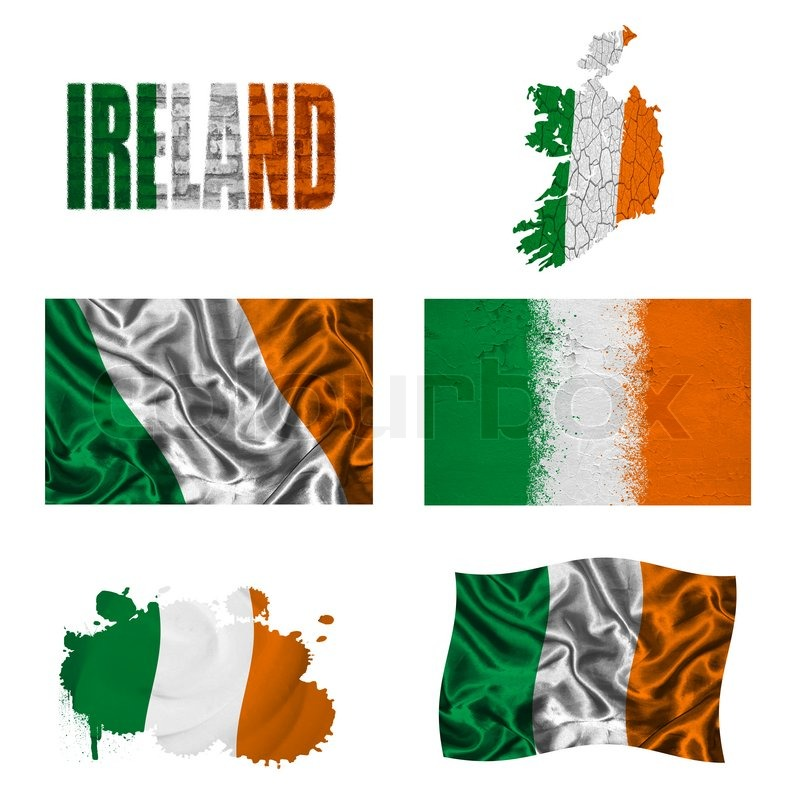 Irish Flag Collage Stock Photo Colourbox